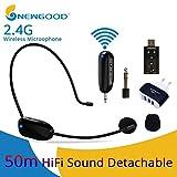 BLG 2.4G Mic EU Plug Professional Mini 2.4G Sistemas de micrófonos inalámbricos Speech Headset Megáfono Mic para computadora PC Altavoz Guía de enseñanza