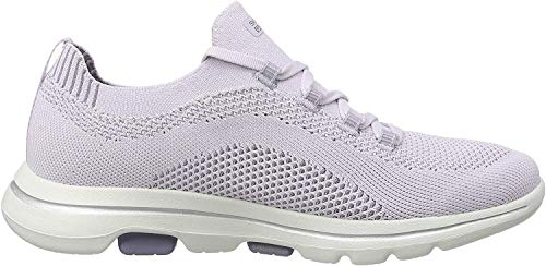 Skechers Go Walk 5-Uprise, Zapatillas para Mujer, Morado (Lavender Textile/Trim Lav), 41 EU