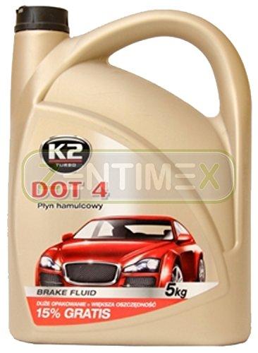 Vollsynthetische Bremsflüssigkeit Hydraulik-Öl Fahrzeugbremssysteme Kupplungssysteme 5kg DOT 4 DOT4 / SAE J 1703 / FMVSS 116 DOT 4