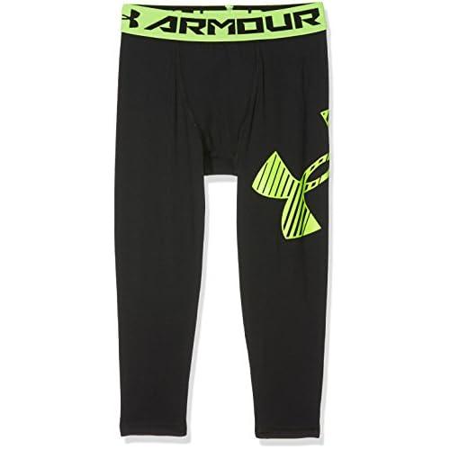 Under Armour, Armour 3/4 Logo Legging, Leggings, Bambino, Nero (Black/Fuel Green 001), M