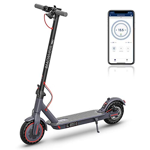 Macwheel MX PRO Electric Scooter, Powerful 350W Motor, Max Speed up to 15.5mph, 25 Miles Long Range 36V/10Ah Battery, 8.5' Airless Tires for Comfortable Commute and Travel