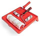 Redl Line Set de 6 pièces 18mm (1 bac de peinture 33 x 34 cm, 1 rouleau de peinture de 25 cm, 1 cintre de 8 mm, 2 rouleaux HK 10 cm, 1 cintre de 6 mm), 20230