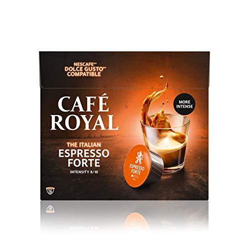 Café Royal Espresso Forte 48 Nescafé®* Dolce Gusto®* kompatible Kaffeekapseln, 3er Pack (3 x 16 Kapseln)