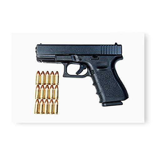 Glock Model 19 handgun with 9mm ammunition Poster Print by Terry MooreStocktrek Images (17 x 11)