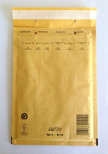 10 Stk. Luftpolstertaschen Typ D (DIN C5) braun, haftklebend mit Abdeckstreifen (Innen 180 x 260)