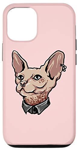 iPhone 12/12 Pro Sphynx Cat Gangster Tattoos Artist Hairless Cat Case