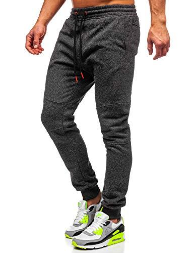 BOLF Hombre Pantalón De Chándal Jogger Pantalones Deportivos Estilo Deportivo J.Style AK11-1 Gris M [6F6]