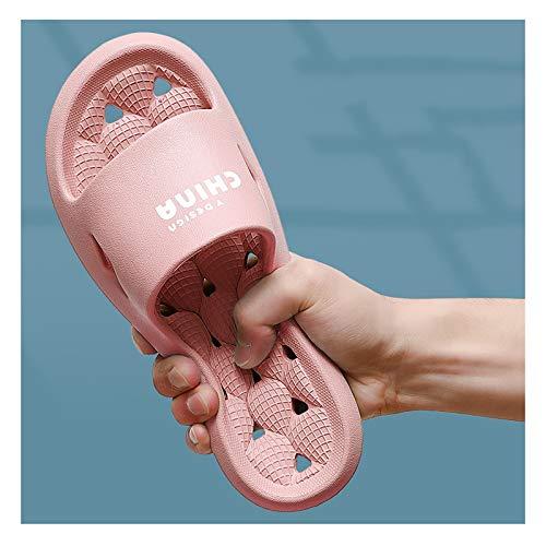 YHshop Pantuflas Playa Zapatillas Mujer de Verano Inicio Inicio Inicio Casa Baño Baño Fugas Pares Sandalias Soft Swollo Sandalias Cómodo Eva Plástico Sandalias (Color : B, Size : 40-41)