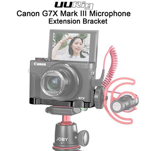 UURig C-G7X Mark III Vlog Bracket voor Canon Vlog Camera G7X Mark III, Handheld Comfortabele Grip met Microfoon/Led Light Cold Shoe Extension Mount, Statief Hoofd