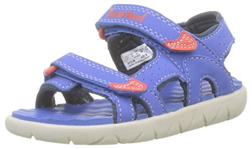 Timberland Perkins Row 2-Strap (Youth), Sandalias de Punta Descubierta, Azul Bright Blue, 32 EU