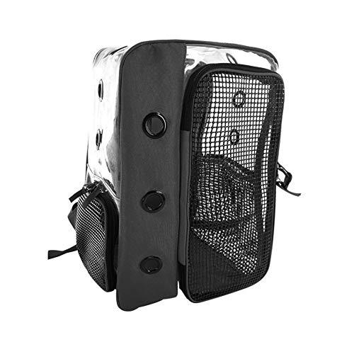 Sasiki Pet Carrier Bag Gatto Zaino Panoramico Trasparente Traspirante Esterno Portatile Gatto Nero Mobili Gatto