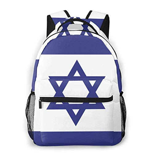 Flag of Israel 3D Customized - Mochila de viaje unisex