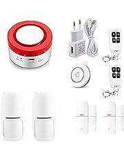 Tuya Smart WiFi alarmsysteem voor thuis, 433 MHz, sirene, draadloos, compatibel met Alexa Google Home App IFTTT Samrt Life