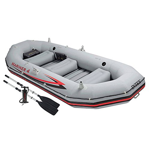 INTEX 68376NP - Barca Hinchable Mariner 4 con 2 Remos 328 x...