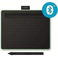 Wacom Intuos S - Tableta Gráfica Bluetooth para pintar, dibujar y editar photos con 2 softwares creativos incluidos para descargar, óptima para la educación en línea y el teletrabajo, pistacho