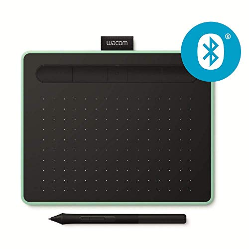 Wacom Intuos S - Tableta Gráfica Bluetooth para pintar, dibujar y editar photos con 2 softwares creativos incluidos para descargar, óptima para la educación en línea y el teletrabajo, pistacho