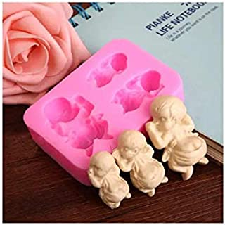 S.Han Silicone Sleeping Baby Mold Fondant Moulds Chocolate Cake Decorating Tools Clay Art