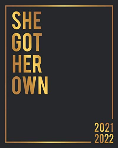 Compare Textbook Prices for She Got Her Own 2021-2022: Motivational Fire Gold 2 Year 24 Months Planner & Organizer with Weekly Spread View - Two Year Schedule Calendar, Agenda & Business Notebook with Inspirational Quotes  ISBN 9798690041205 by Planners, Simple