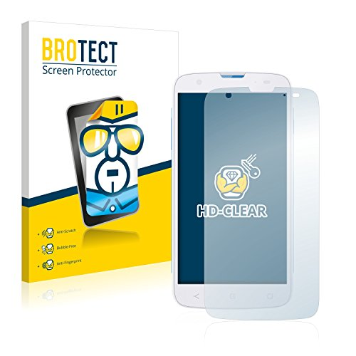 BROTECT Schutzfolie kompatibel mit MobiWire Taima (2 Stück) klare Bildschirmschutz-Folie