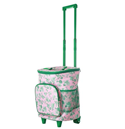 Rice Einkaufstrolley, isoliert, Rosa / Grün, Maße: 38 x 26 x 30 cm, Fassungsvermögen: 22 l