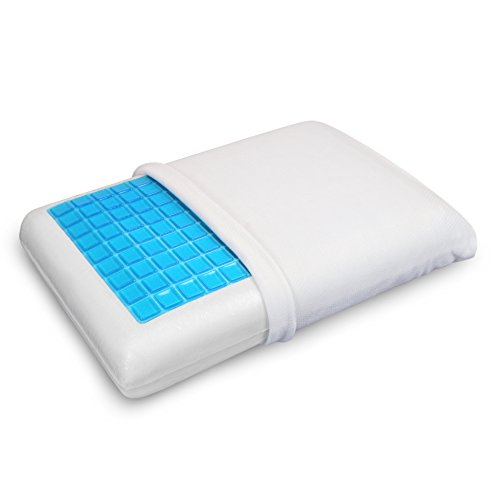 PharMeDoc Memory Foam Pillow w/Cooling Gel - Orthopedic Support Pillow Designed and Pain Relief...