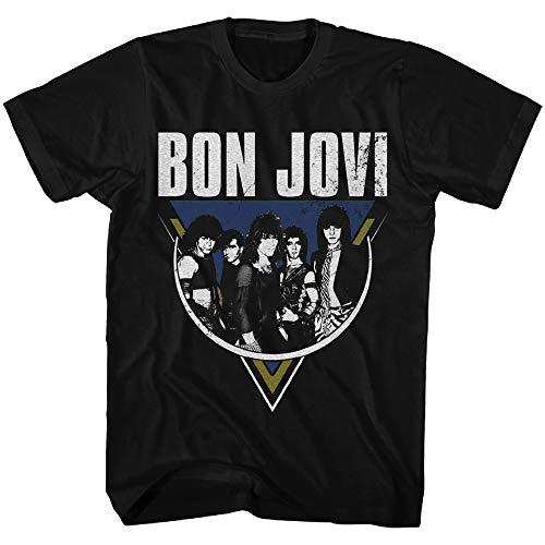 Women's Bon Jovi Vintage Rock Shirt, Blaclk