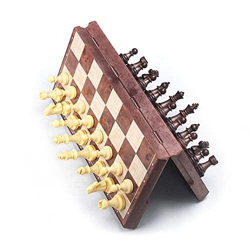 TTSHOP Juego de Tablero de ajedrez de 31x31x2cm Juego de ajedrez de...
