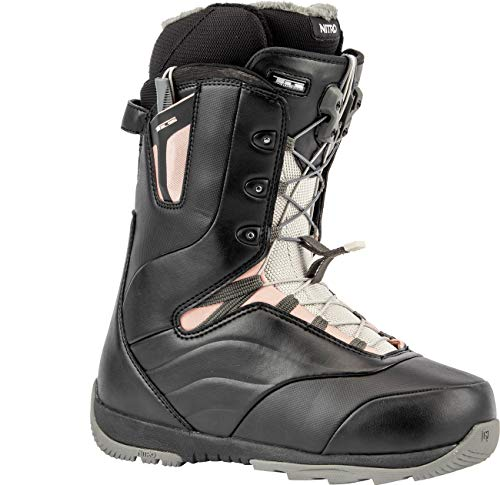 Nitro Snowboards Damen Crown TLS '20 All Mountain Freeride Freestyle Schnellschnürsystem Boot Snowboardboot, Black-Rose, 26.0