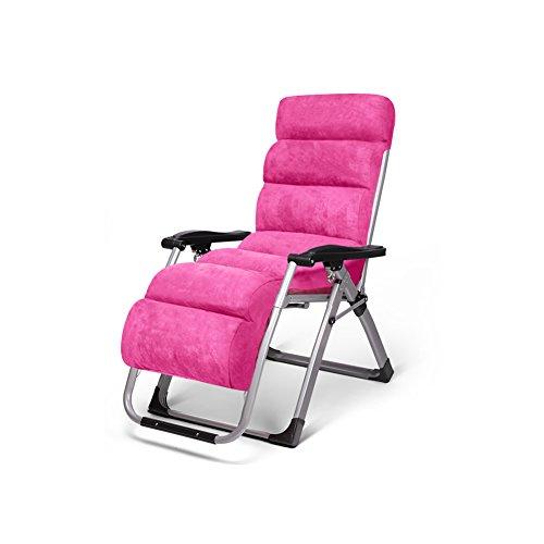 MuMa Chaises Longues L-126 Sofa Chaises Fauteuils Inclinables Paresseux Chaises Chaise Pliante Chaise de Loisirs (Couleur : Rose Rouge)