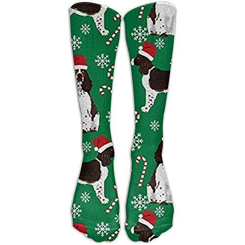 NA Englischer Springer Spaniel Santa Christmas High Compression Socks