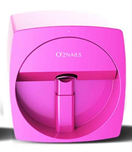 O2 Nails V11 - Impresora de uñas con diseño de arte móvil Impresora de uñas de cartucho de color iOS Android con función WiFi