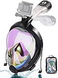Máscara de esnórquel 2019 con protección UV, plegable, fácil respiración y visión del mar, 180 unidades