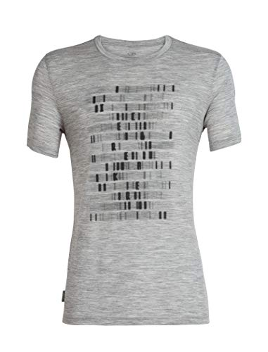 Icebreaker Tech Lite SS Crewe Sequence T-Shirt Homme Metro HTHR FR : L (Taille Fabricant : L)