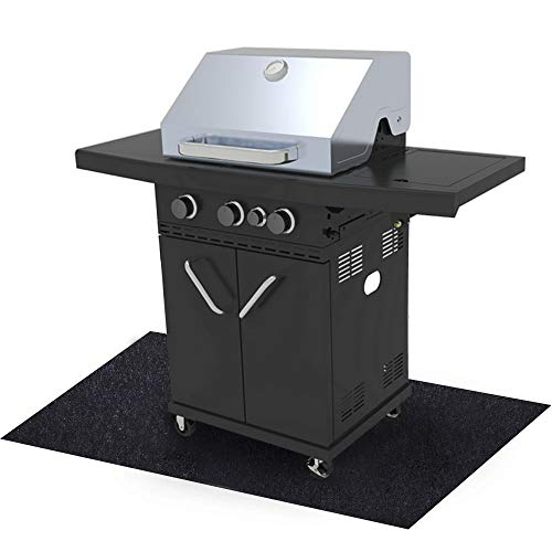 Sahamoduo Under The Grill Mat, (36' x 48') ,BBQ Grilling Gear Gas Electric Grill – Use This...