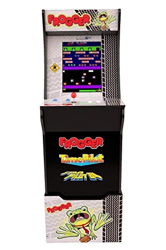 Arcade1Up Frogger Home Arcade Machine, 3 Games in 1, 4 Foot Cabinet with 1 Foot Riser - Electronic Games