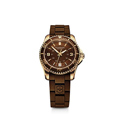 Victorinox Women's 241615 Maverick Analog Display Swiss Quartz Brown Watch