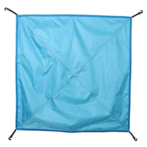 perfk Bâche Tente Imperméable Anti-Pluie/UV Portable Pare-Soleil pour Camping Randonnée Cyclisme Rainfly - Bleu