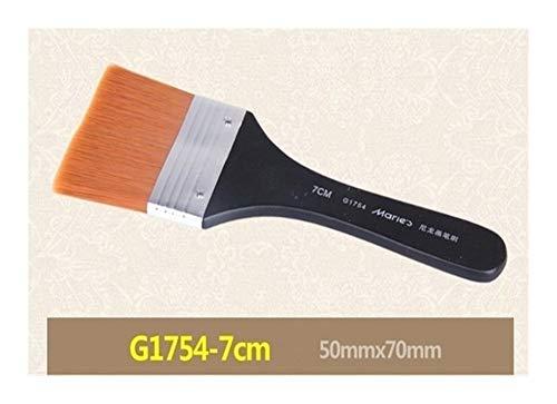 GGLLBL 1 Aquarelle Huile PC Peinture Poignée en Bois Brosse à Cheveux en Nylon Peinture Dessin Arcylic Brosses Art école Fournitures stationnaires (Color : 46X60mm)