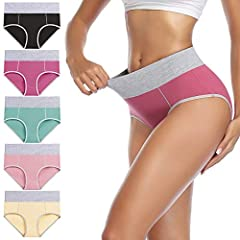 SOFT & COMFORTABLE COTTON FABRIC: Soft stretch women's cotton underwear, No sagging, no binding or pilling.The panties don't dig into skin or stretch out. The seam lines are smooth and don't irritate.No deformation after washing or drying. STRETCHY F...
