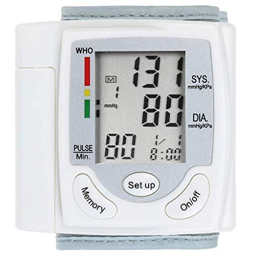 Monitor De Presión Arterial De Muñeca Para El Hogar, Fácil De Leer, Modo De 2 UsuariosCapacidad Memoria De 198, Medición Automática Digital Presión Arterial Detección Pulso De Frecuencia Cardíaca