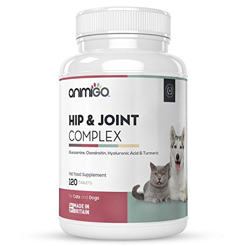 Suplemento Condroprotector Perros y Gatos 120 Comprimidos Masticables | Cuidado Cadera y Articulaciones Huesos y Energía, con Cúrcuma, Ácido Hialurónico, MSM, Vitamina C, Glucosamina y Condroitina