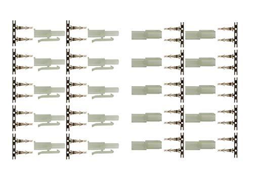 marfitec © 10 Paar (20 Stück) T135 Steckverbinder kompatibel mit Tamiya (Stecker/Buchse) zum crimpen