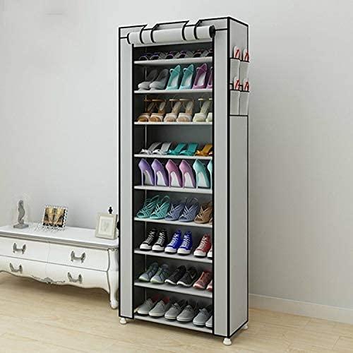 FTFTO Muebles de renovación del hogar Telas no Tejidas Organizador de Zapatero Grande Mueble de Almacenamiento de Zapatos extraíble Muebles para Fila: Fila única (Negro) (Color: Negro)