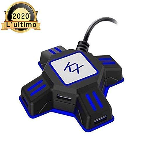 Adattatore mouse e tastiera ps4 Adattatore convertitore tastiera e mouse per console Nintendo Switch / Xbox One / PS4 / PS3