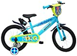 Vélo 16' Toy Story 4 équipé de 2 Freins, Plaque Avant décorative, bidon & Porte bidon arrière, gardes Boue et stabilisteurs