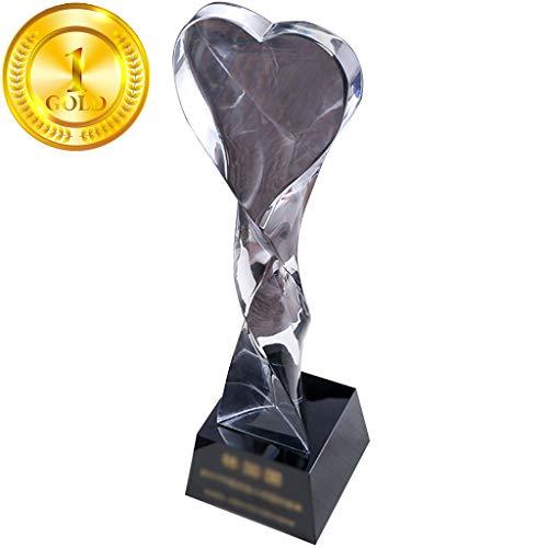 Trophée, Trophées Creative En Forme De Coeur Cristal...