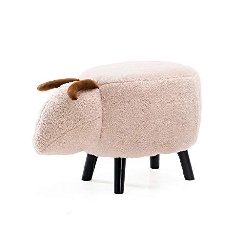 CKH eenvoudige mode kinderkruk creatieve schoenen bank persoonlijkheid massief hout bank stoel comfortabele dier modellering kruk
