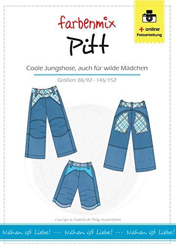 Pitt Farbenmix Schnittmuster (Papierschnittmuster für die Größen 86/92 - 146/152), Jungenhose