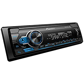 Pioneer MVH-S310BT Single Din Built-In Bluetooth MIXTRAX USB Auxiliary Pandora Spotify iPhone Android and Smart Sync App Compatibility Car Digital Media Receiver