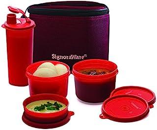 مجموعة غداء تنفيذية متوسطة الحجم مع حقيبة حمراء عميقة من سيجنوروير